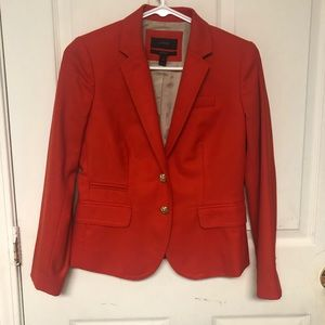 J. Crew coral blazer gold buttons